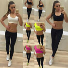 Women Tarcksuit Gym Yoga Tank Running Fitness Sports Bras Compression Pants Hot