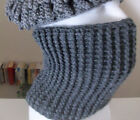 Handmade Crochet/Knit Ribbed Scarf - Man's Cowl Neck/Dickie Select Your Color