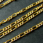 5 METRES GOLD PLATED LINK-OPENED FIGARO STYLE CHAIN