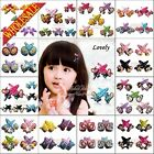 Novelty Hairpins 4Pairs Baby Girls cartoon Hair Clips Kids Hairclips Headwear