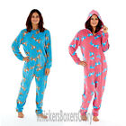 Ladies Horse Animal Hooded Fleece Onesie All In One Size 10 12 14 16 18 20 NEW