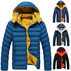 New Men's Winter Padded Slim Fit Removable Hooded Coat Thick Jacket Warm Outwear