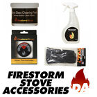 FIRESTORM STOVE ACCESSORIES - GLASS CLEANING PASTE/SPRAY, GAUNTLETS, THERMOMETER