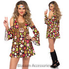 CA79 Starflower Hippie 1960s Disco Hippy 70s Fancy Dress Up Groovy Party Costume