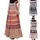 Indian Women's Ethnic Casual Lot of 10 Wrap Around Long Aline Skirt  3034