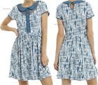 Doctor Who TARDIS Print Peter Pan Collar Dress ~Authentic BBC~ Free Ship