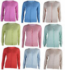 Womens Ex M&S Classic Cardigan Round Neck Dark Buttons Long Sleeves Sizes 8-24