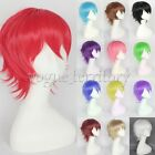 Multicolor Men Short Shaggy Straight Full Wig Anime Cosplay Party Costume Hair