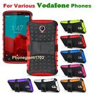 Shock Proof Heavy Duty Armour Hybrid Case Cover For Various Vodafone Phones