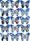 15/30 MINNIE FROZEN TINK ETC EDIBLE RICE PAPER/ICING BUTTERFLYS CUPCAKE TOPPERS
