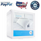 2 Pack Waterproof Pillow Protector Hypoallergenic Dust Mite Zipper Covers Cases
