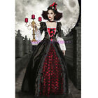 I27 Vampire Queen Medieval Renaissance Dracula Halloween Gown Dress Up Costume