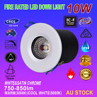 6x 10W COB LED DOWNLIGHT KIT FIRE RATED IP65 WATERPROOF DIMMABLE WARM/COOL WHITE