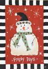 """LM121 Frosty Days Snowman Lori Maphies 5""""x7"""" framed or unframed print Christmas"""