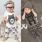 Baby Newborn Boy O Neck Top Blouse T-Shirt Pants Trousers Outfits Set