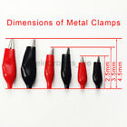 5pairs Small Medium Large Red Black Sheathed Alligator Test Clips Clamp Probe
