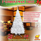 Artificial Christmas Tree 7ft Tall Spruce W/ Steel Base Realistic Xmas Pine Tree