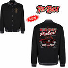 Hot Rod 58 Red Vintage Rockabilly Retro American Campus Giacca Stile Varsity 48