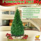 7ft Artificial Christmas Tree W/ Steel Base Holiday Decoration Xmas PineTree
