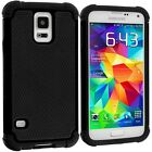 Samsung Galaxy SmartPhone Rugged Rubber Dual Layer Impact Hybrid Hard Case Cover