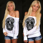 Fashion Womens Summer Long Sleeve Casual Blouse Loose Cotton Tops T Shirt S-L
