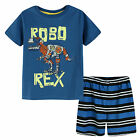 Pyjamas Boys Summer Pjs Set (sz 3-7) Denim Blue Robo Rex Dinosaur Sz 3 4 5 6 7