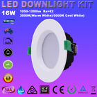 4/6X 16W LED DOWNLIGHT KITS DIMMABLE 1200LM SMD DOWN LIGHTS WARM COOL WHITE