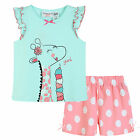 Pyjamas Baby Girls Summer Short 2 pc Pjs Set (sz 0-2) Mint Green Giraffe Sz 0 1