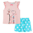 Pyjamas Baby Girls Summer Short 2 pc Pjs Set (sz 0-2) Soft Pink Giraffe Sz 0 1 2
