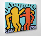Quadro Keith HARING Best Buddies Pannello mdf Giclée Art Poster Stampa su Tela