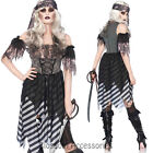 K236 Ladies Zombie Ghost Pirate Wench Gothic Halloween Fancy Dress Up Costume