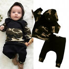 Camouflage Newborn Baby Boys Toddler Hooded Tops +Long Pants Outfits Set Clothes