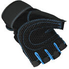 Half Finger Grip Glove For Wrist Support Gym Workout Weight Lifting
