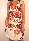 Karen Millen Ivory Red Floral Belted Mini Skater Prom Evening Party Dress 10 38