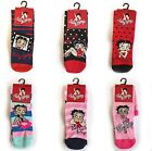 BETTY BOOP KIDS GIRLS LADIES WARM OFFICIAL ANKLE SOCKS SIZE 4-8 (37-4 £2.2 GBP