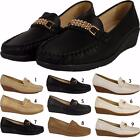 Womens Ladies Slip On Casual Formal Work Flat Office Pumps Loafers Shoes Sizes