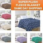 Ultra Super Soft Cube Design Fleece Plush Luxury BLANKET All Sizes - 7 colors! image