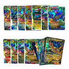 18Pcs Pokemon Flash Trading Cards Charizard Holo MEGA EX Cards Fans Kids Gift