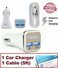 Authentic Original OEM Samsung Galaxy Note Adaptive Fast Rapid WALL CAR Charger