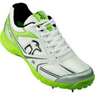 Kookaburra Pro 750 Spike Kids Junior Cricket Shoe White/ Green