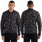 Mens Casual Zip Through Geo Print Bomber Basketball Neck Pockets by Fremont S-XL