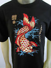 Koi fish tattoo red Japan surf party lucky warrior short sleeve men's tee shirt