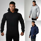 Men's GYMShark Casual Hoodied Long Sleeve Fitness Workout Hoodie Sweatshirt