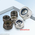 5-100x Black Nickel Plated /Galvanized Nylon Inset Lock Nuts M2-M6