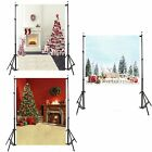 New 5x6.5 ft Christmas Backdrop Cloth Decorated Tree Background For Photography