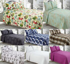 New Vintage 3Pc Patchwork Quilted Bedspread With 2 Matching Pillow 240 X 260 Cm
