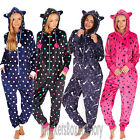 Womens/Ladies Stars/Spots Onesie All In One With Hood Size 8,10,12,14,16,18 NEW