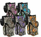 "SHOWMAN Insulated BOTTLE CARRIER Nylon Real Oak CAMO 3.5"" Front Cell Phone Pouch"