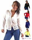 Womens Sexy Casual Chiffon Collared Long Sleeve Office Blouse Shirt Plus Size