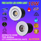 6X 10W CREE FIRE COB LED DOWNLIGHTS KITS DIMMABLE WARM/ COOL WHITE 70/90MM CUTS